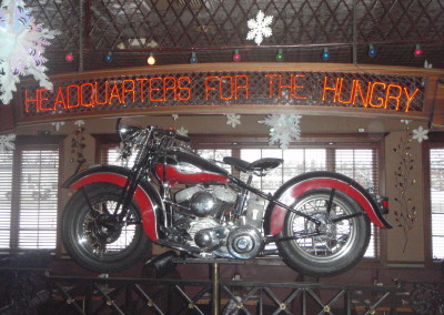 Vintage harley at the North Division Onion